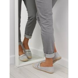 Espadrilles gray SK135 Silver grey 3