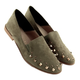 Loafers lordsy with studs green 1415 Green 3