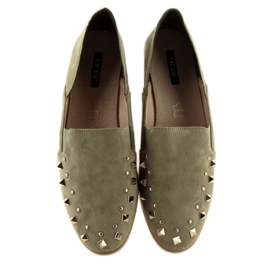 Loafers lordsy with studs green 1415 Green 1