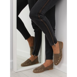 Loafers lordsy with studs green 1415 Green 5