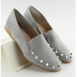 Loafers lordsy with gray 1415 Gray studs grey 3