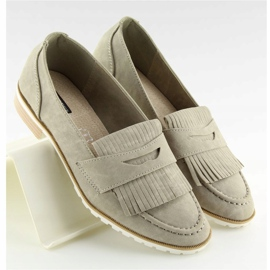 Women's loafers gray 1174 Gray grey 1