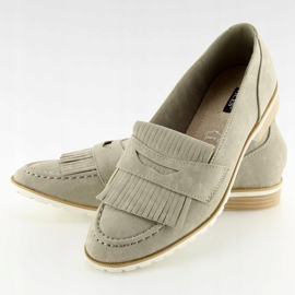 Women's loafers gray 1174 Gray grey 2