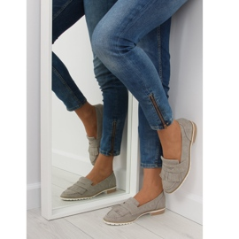 Women's loafers gray 1174 Gray grey 5