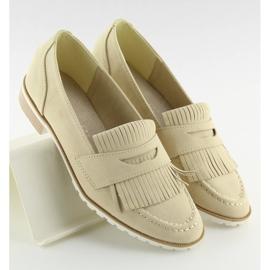 Loafers for women beige 1174 Beige 4