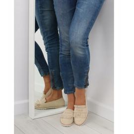 Loafers for women beige 1174 Beige 1