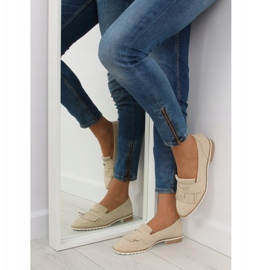Loafers for women beige 1174 Beige 3