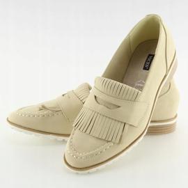 Loafers for women beige 1174 Beige 5