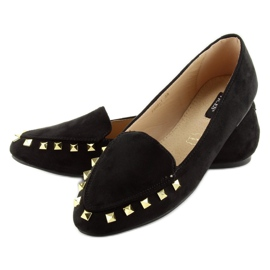 Women's moccasins with black 1388 Black studs 4
