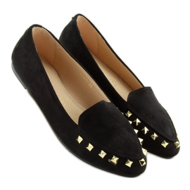 Women's moccasins with black 1388 Black studs 5
