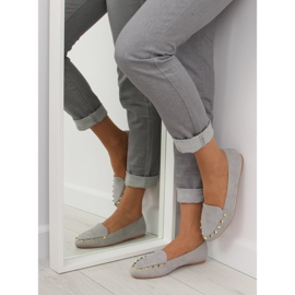 Women's moccasins with gray 1388 Gray studs grey 3