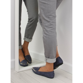 Women's moccasins with nails 1388 Navy 1