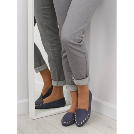 Women's moccasins with nails 1388 Navy 2