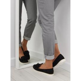 Women's loafers with tassels, black 7214 Black 1