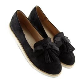 Women's loafers with tassels, black 7214 Black 6