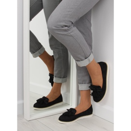 Women's loafers with tassels, black 7214 Black 2