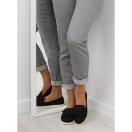 Women's loafers with tassels, black 7214 Black 3