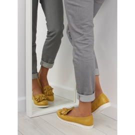 Loafers for women with yellow tassels 7214 Yellow 4