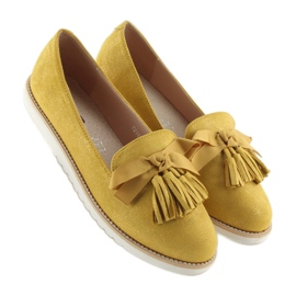 Loafers for women with yellow tassels 7214 Yellow 3