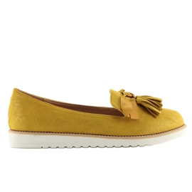 Loafers for women with yellow tassels 7214 Yellow 1
