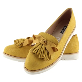 Loafers for women with yellow tassels 7214 Yellow 2
