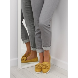 Loafers for women with yellow tassels 7214 Yellow 6