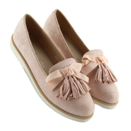 Women's loafers with pink fringes 7214 Pink 3