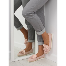 Women's loafers with pink fringes 7214 Pink 5