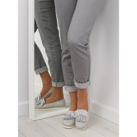 Women's loafers with gray gray tassels grey 6
