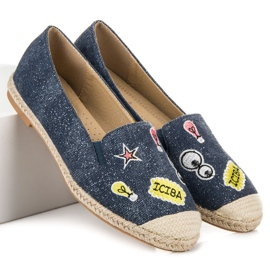 Seastar Espadrilles with patches blue 1