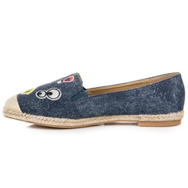 Seastar Espadrilles with patches blue 3