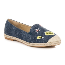 Seastar Espadrilles with patches blue 2