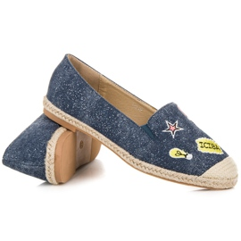 Seastar Espadrilles with patches blue 4