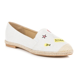 Seastar Espadrilles with patches white 2