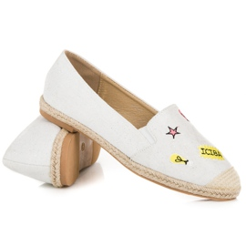 Seastar Espadrilles with patches white 4