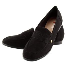 Women's black moccasins T298 Black 4