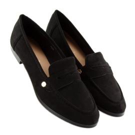 Women's black moccasins T298 Black 5