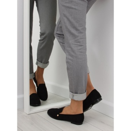 Women's black moccasins T298 Black 2