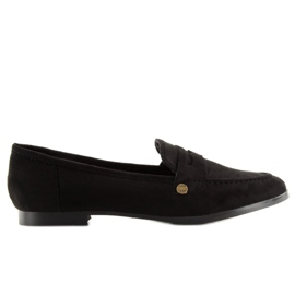 Women's black moccasins T298 Black 3