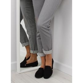 Women's black moccasins T298 Black 6