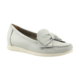 Caprice moccasin women's shoes grey 1