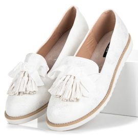 Vices Suede lords with fringes white 3