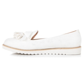 Vices Suede lords with fringes white 5