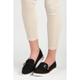 Vices Moccasins with a decorative buckle black 3
