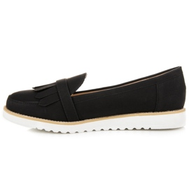 Vices Moccasins with a decorative buckle black 1