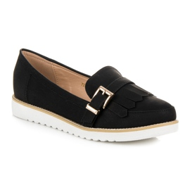 Vices Moccasins with a decorative buckle black 2