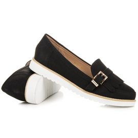 Vices Moccasins with a decorative buckle black 5