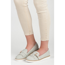 Vices Moccasins with a decorative buckle grey 5