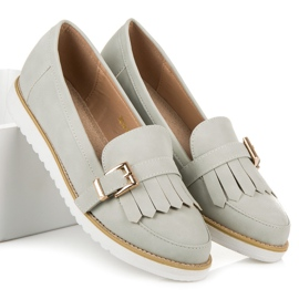 Vices Moccasins with a decorative buckle grey 2