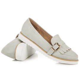Vices Moccasins with a decorative buckle grey 1